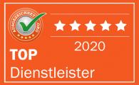 Top Dienstleister 2020 bei ausgezeichnet.org
