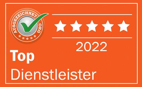 Top-Dienstleister 2021 - Ausgezeichnet.org