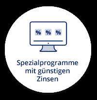 Spezialprogramme mit günstigen Zinsen
